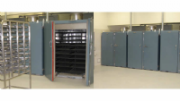 Pass through drying ovens from sample receiving to sample preparation.